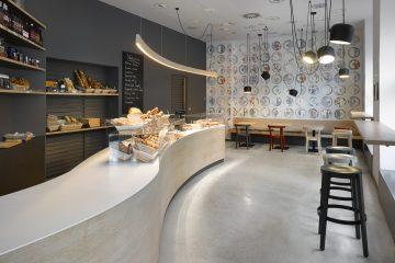 Mẫu thiết kế quán cafe bánh