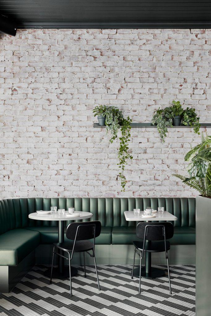 thiết kế quán cafe xanh