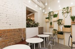 thiết kế quán cafe tối giản