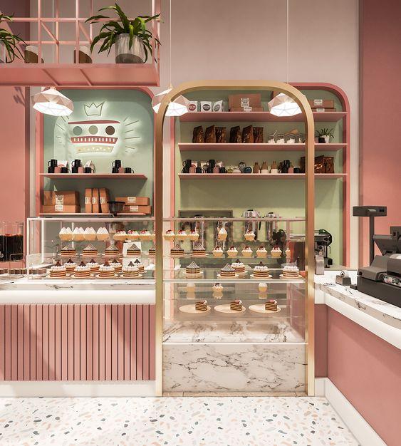 Thiết Kế Tiệm Cafe Bánh